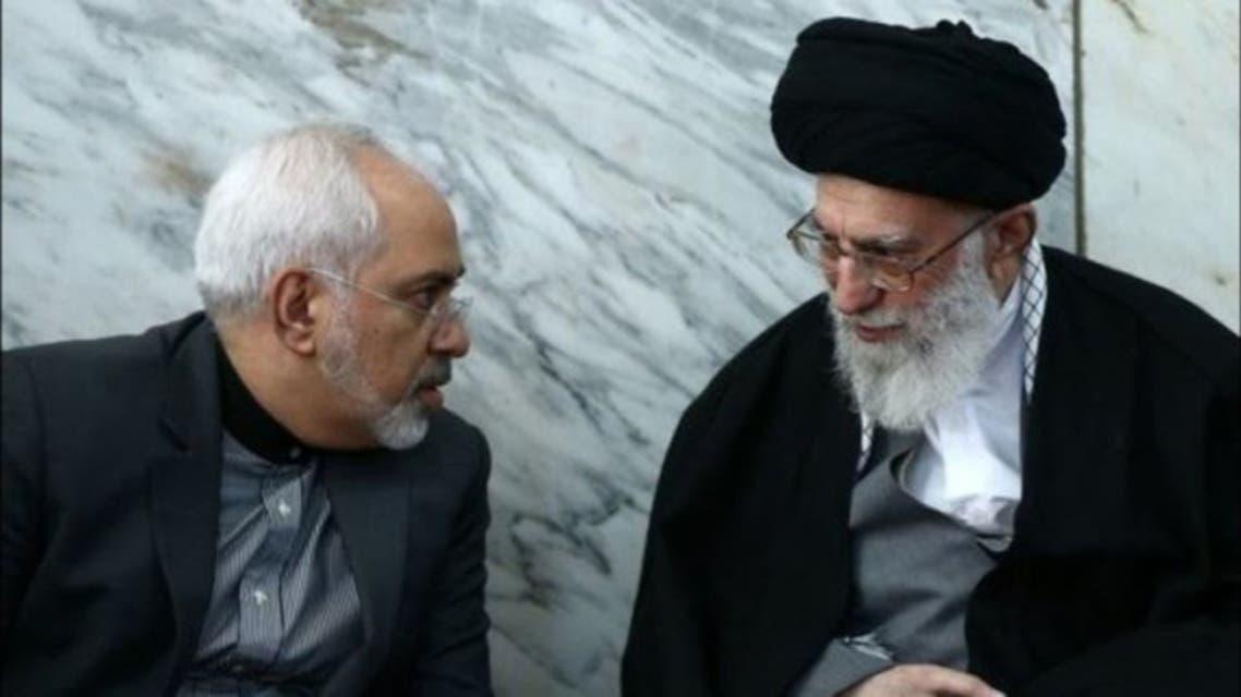 ظريف والمرشد الايراني علي خامنئي