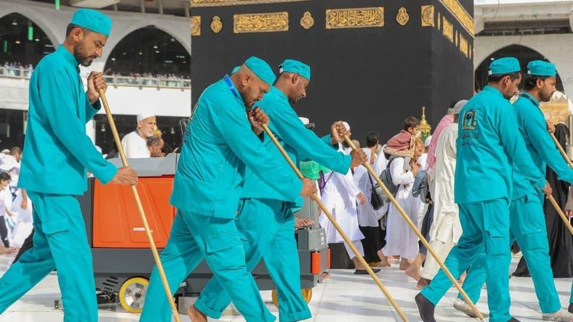 masjid Haram cleaning system