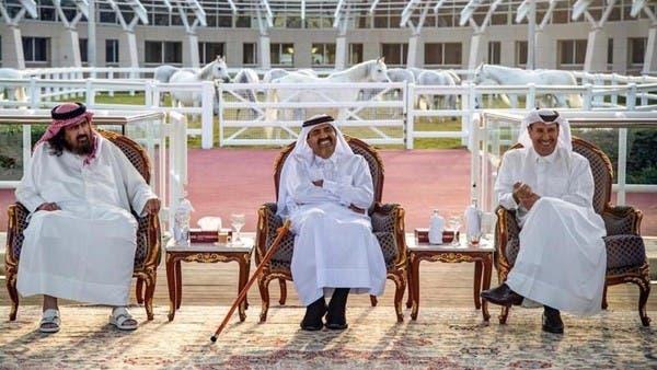 صورة حديثة لحمد بن خليفة وحمد بن جاسم مع صديق مهندس تفجيرات 11 سبتمبر