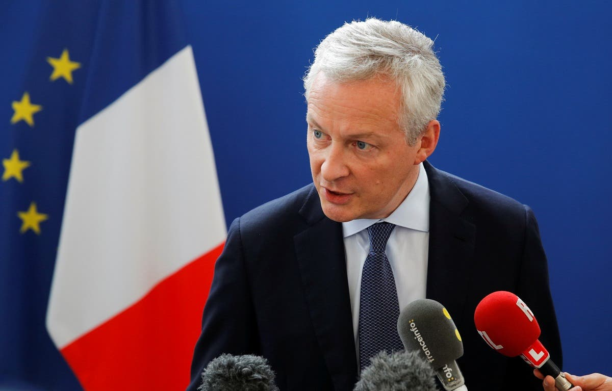 French Finance Minister Bruno Le Maire at a news conference in Paris, France. (File photo: Reuters)