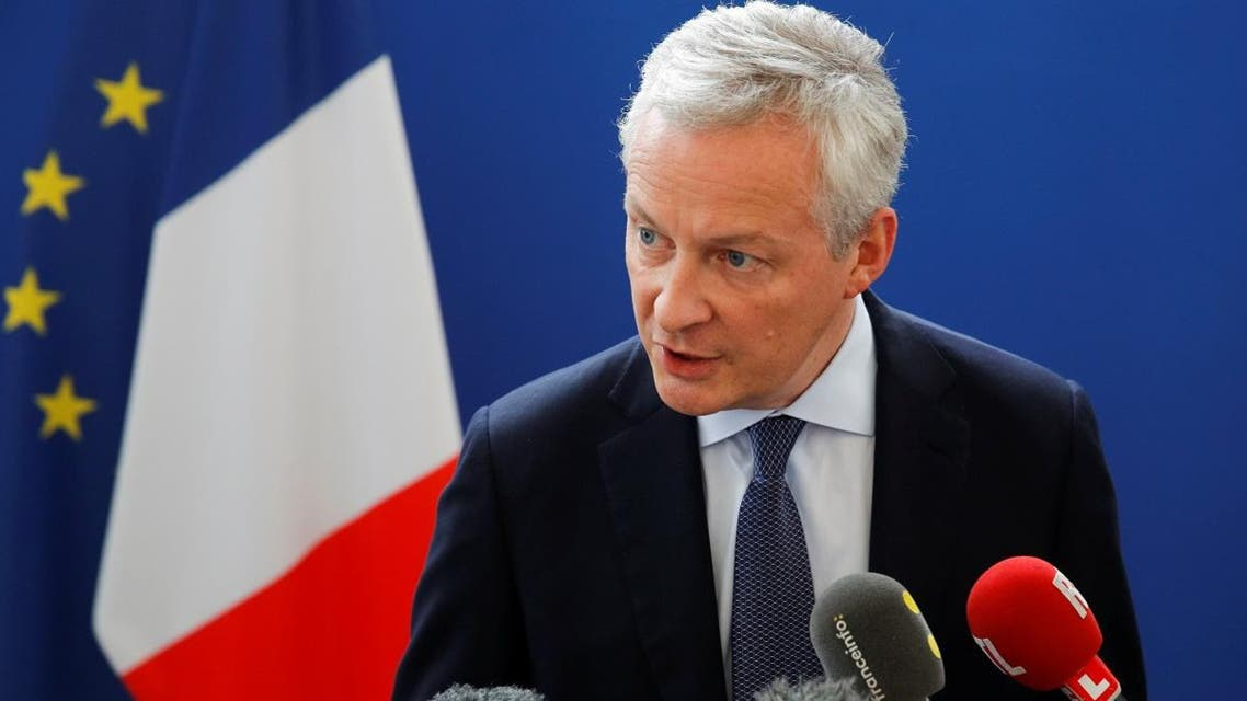 French Finance Minister Bruno Le Maire at a news conference in Paris, France, on July 27, 2019. (Reuters)
