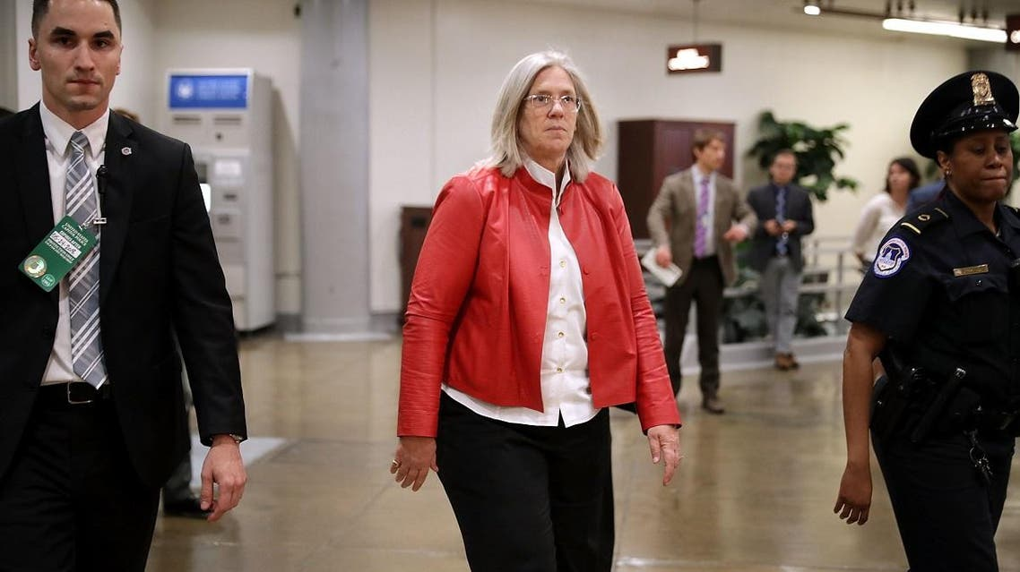 Principal Deputy Director of National Intelligence Sue Gordon (C) arrives to brief members at the US Capitol in Washington, DC. (File photo: AFP)