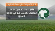 """الاتحاد السعودي يعتمد التعديلات الجديدة على """"الاحتراف"""""""