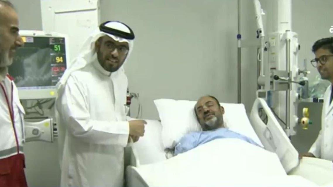 Iranian pilgrim tumor operation in Saudi Arabia. (Screen grab)