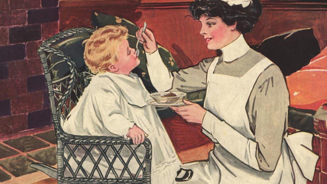 صورة دعائية لأحد منتوجات رقائق الذرة خلال القرن الماضي