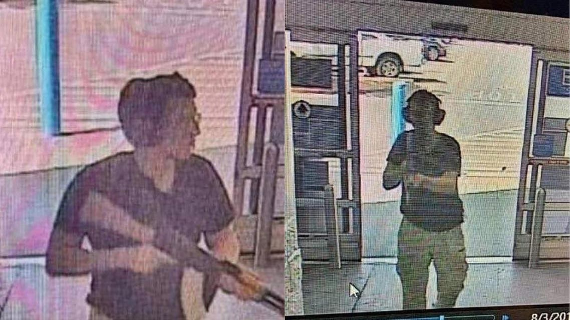 This CCTV image obtained by KTSM 9 news channel shows the gunman identified as Patrick Crusius, 21 years old, as he enters the Cielo Vista Walmart store in El Paso. (Courtesy of KTSM 9/AFP)