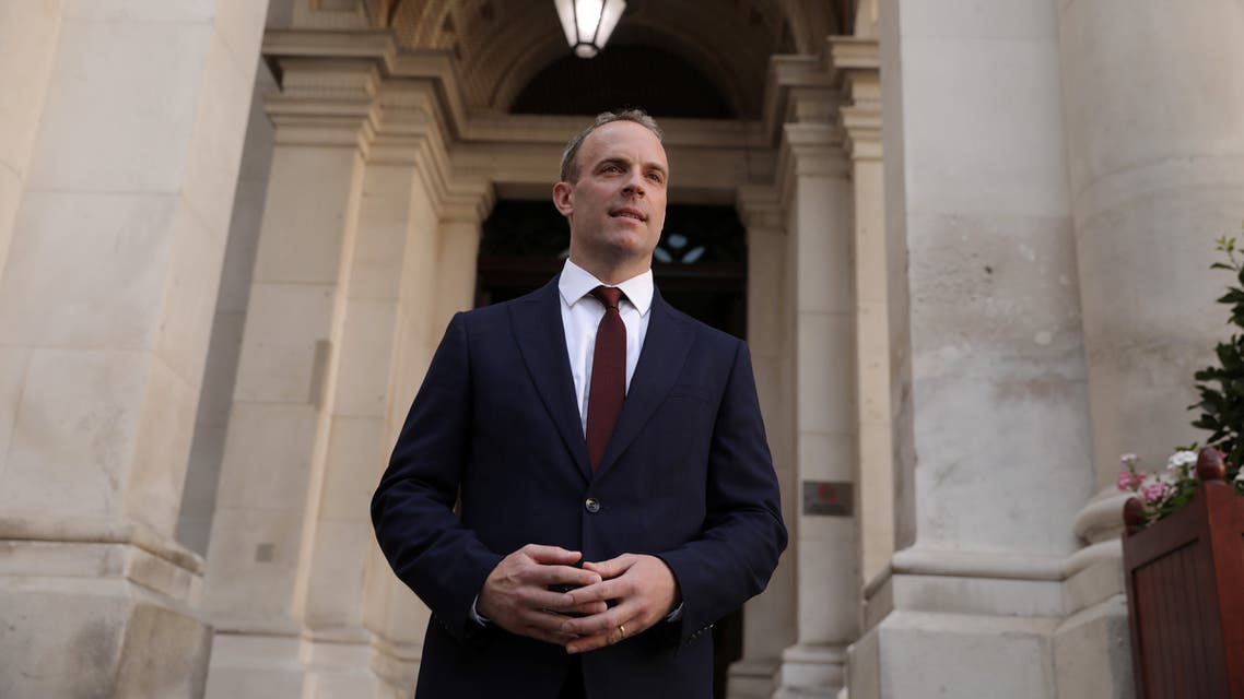 Dominic Raab is seen at the Foreign and Commonwealth building after being appointed as the Foreign Secretary by Britain's new Prime Minister Boris Johnson in London, Britain, July 24, 2019. Dan Kitwood/Pool via REUTERS