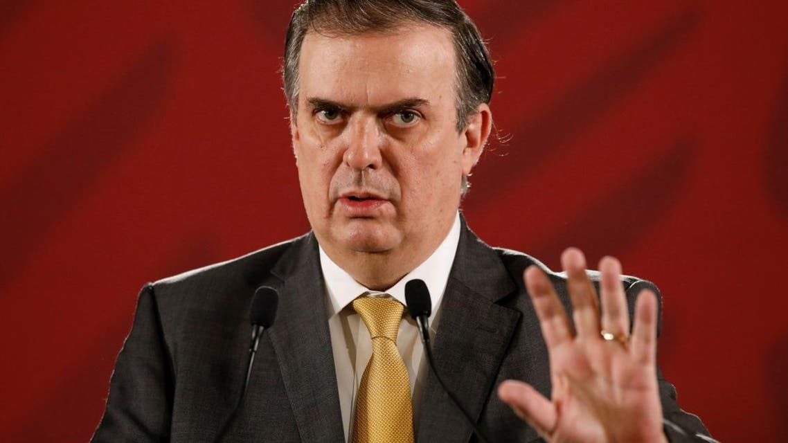 Mexico's Foreign Minister Marcelo Ebrard attends a news conference at the National Palace in Mexico City on July 22, 2019. (Reuters)