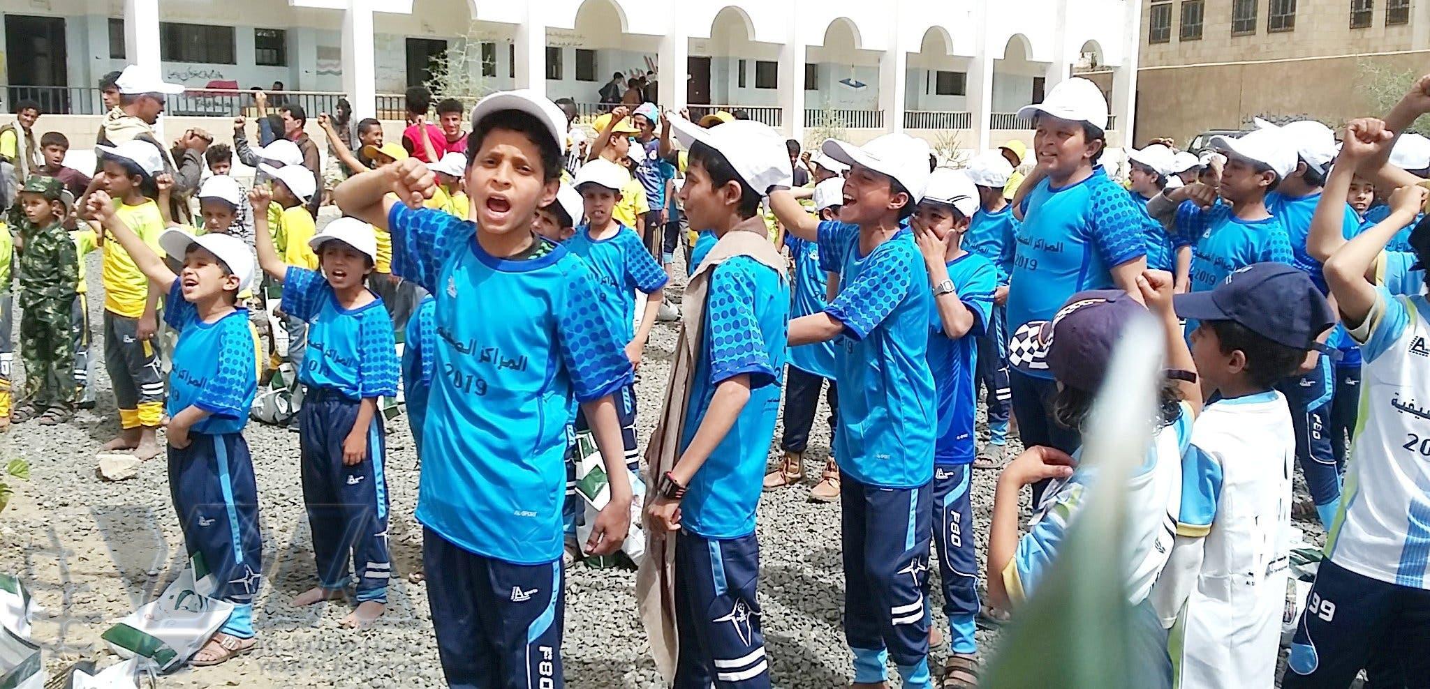 تدريبات للطلاب في المراكز الصيفية الحوثية