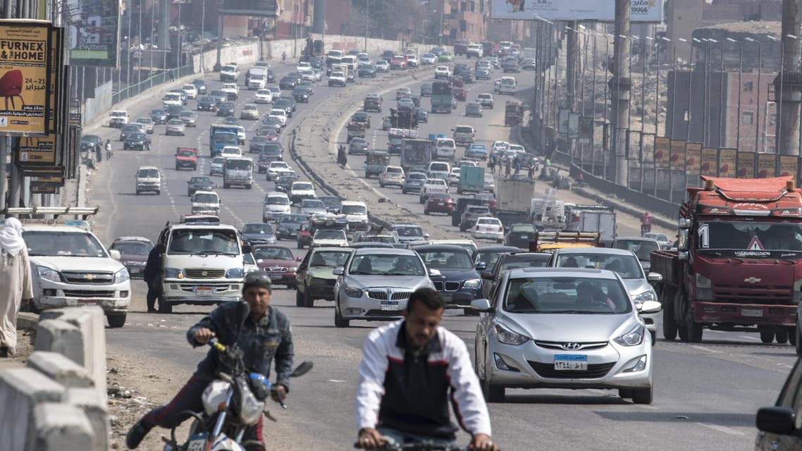 Cairo traffic Egypt - AFP