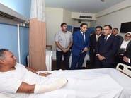 رئيس الوزراء المصري يزور الجرحى ويتفقد موقع الهجوم