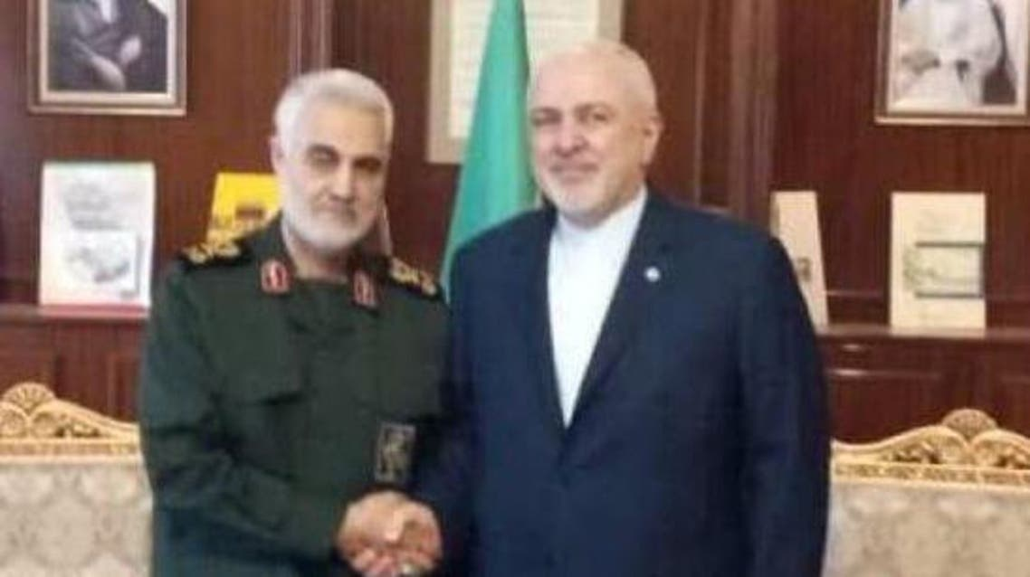 Zarif, Soleimani meeting, 8-6-19 (Soleimani's Twitter)