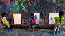 Paint relief: Singaporeans make messy art to de-stress