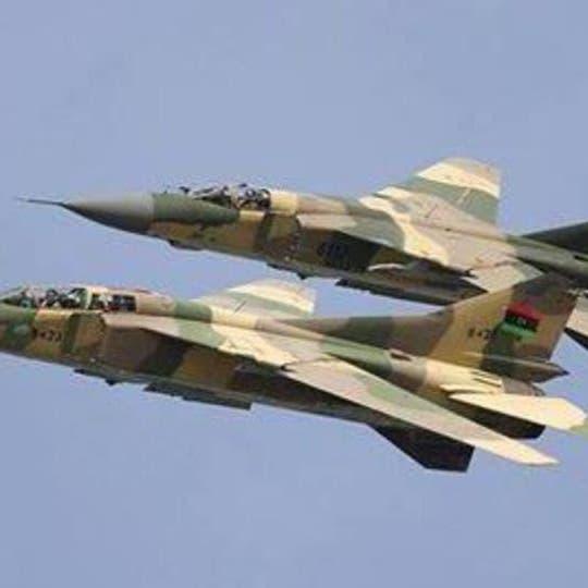 الجيش الوطني الليبي يقصف قاعدة جوية للوفاق بمصراتة