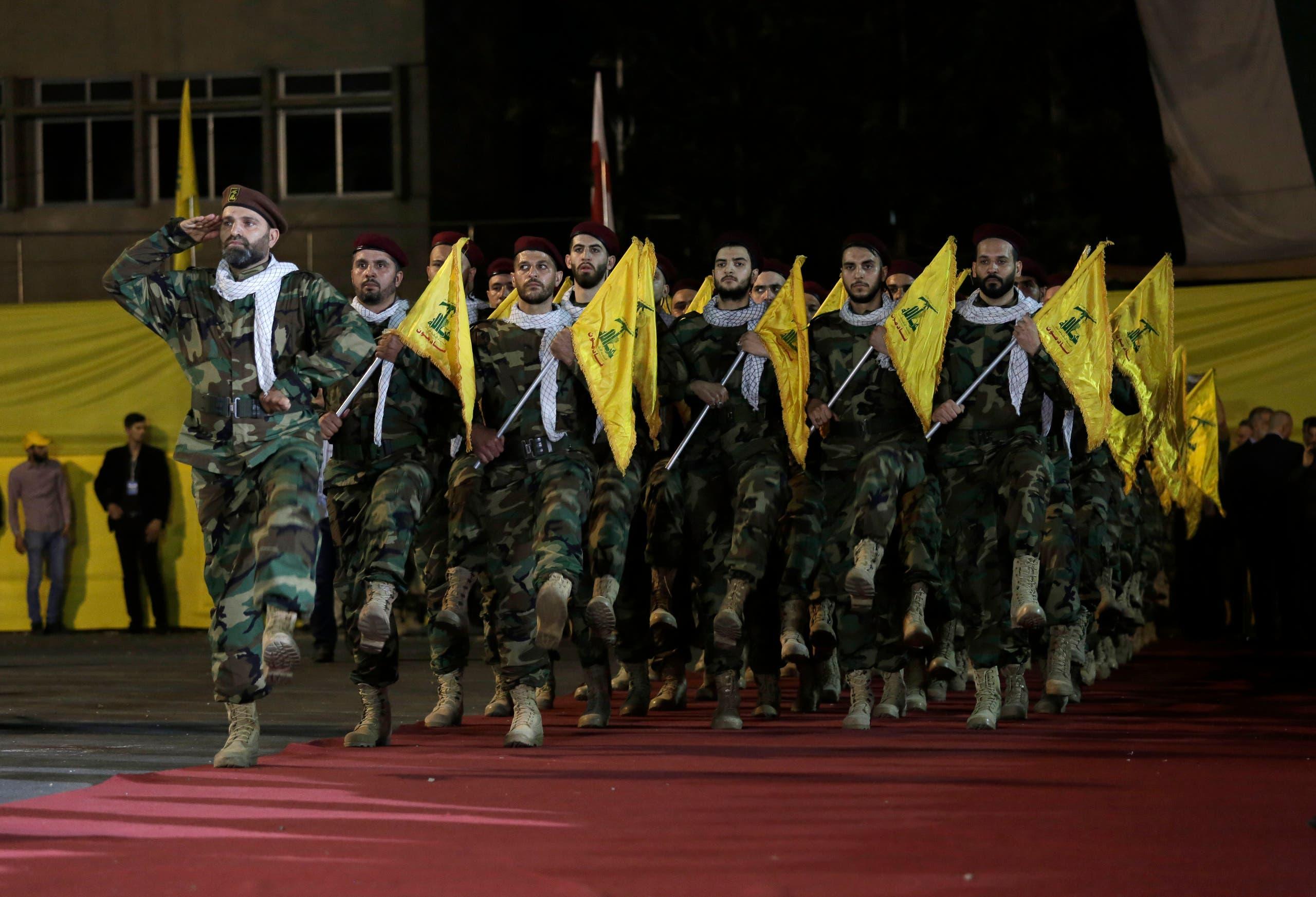 عناصر من ميليشيا حزب الله اللبناني