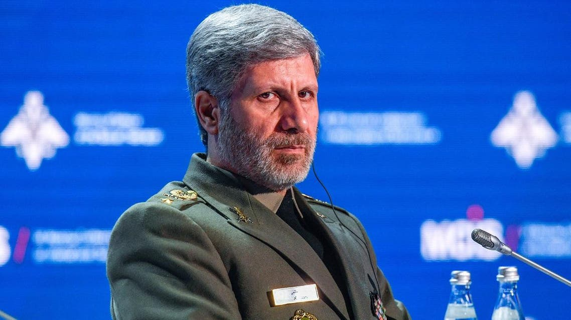 Iranian Defense Minister Amir Hatami attends the VII Moscow Conference on International Security MCIS-2018 in Moscow on April 4, 2018. (AFP)