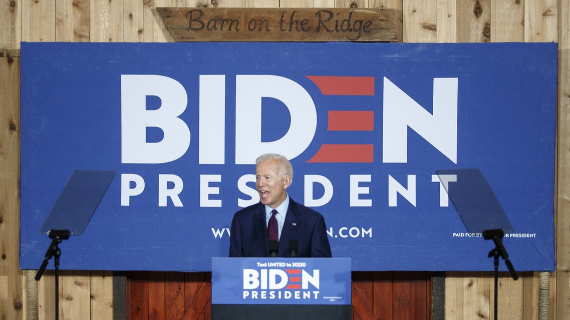 BURLINGTON, IA - AUGUST 07: Democratic presidential candidate and former Vice President Joe Biden delivers remarks about White Nationalism during a campaign stop on August 7, 2019 in Burlington, Iowa. Tom Brenner/Getty Images/AFP