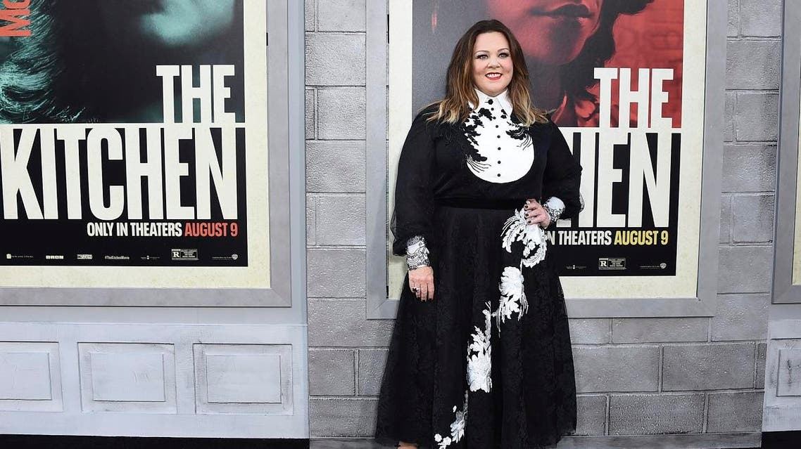 "Melissa McCarthy arrives at the world premiere of ""The Kitchen"" at the TCL Chinese Theatre on Monday, Aug. 5, 2019, in Los Angeles. (AP)"