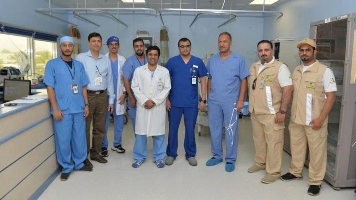 KSA: hajj season Saudi surgeons performs a 3d heart surgeru