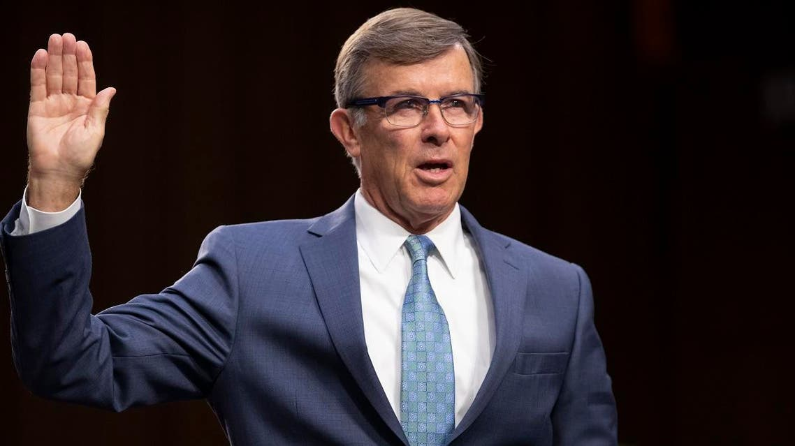retired Vice Adm. Joseph Maguire and now current director of the National Counterterrorism Center, appears before the Senate Intelligence Committee on Capitol Hill in Washington. President Donald Trump has named Maguire as acting national intelligence director. (AP)