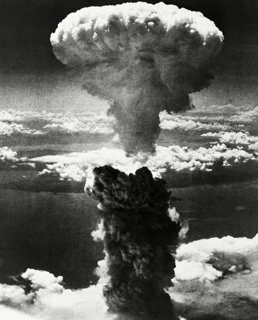 صورة لعملية استهداف ناغازاكي بالقنبلة النووية