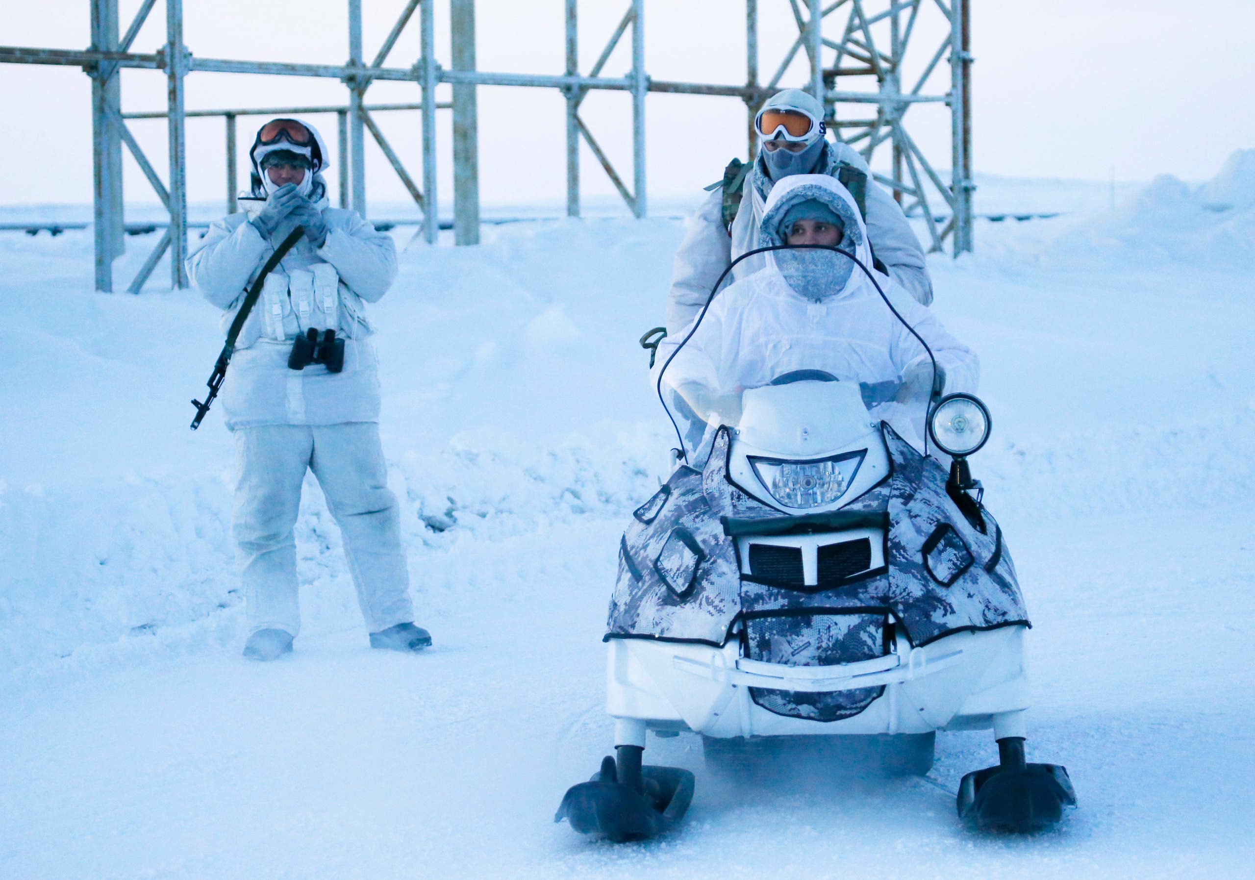 File photo of Russian soldiers in an arctic base. (Reuters)