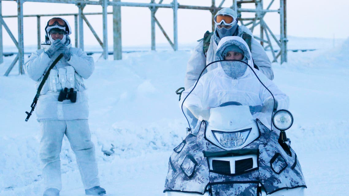 Russian soldiers arctic base, 2017 - Reuters