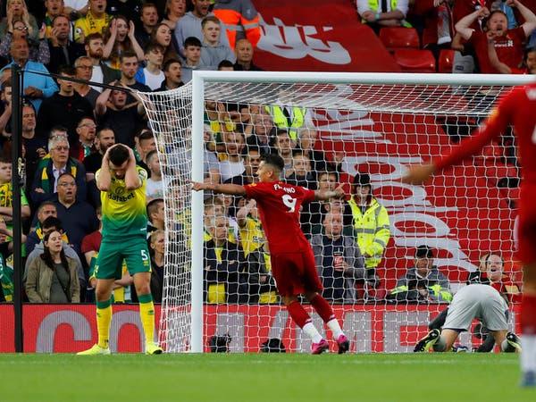 ليفربول يفتتح الدوري الإنجليزي برباعية في مرمى الصاعد نوريتش
