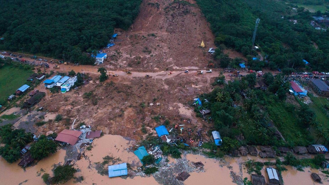 Myanmar Landslide August 9 2019 - AFP