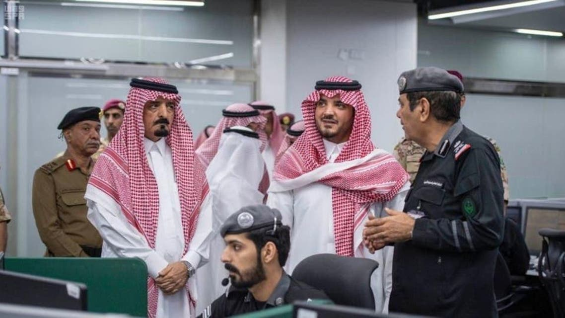 سعودی وزیر داخلہ  کا مکہ میں سیکیورٹی سنٹر کا دورہ