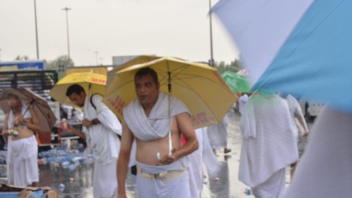 میدان عرفات میں بارش