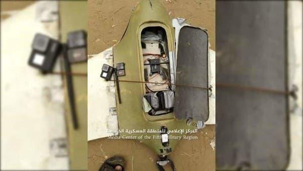 صور.. الجيش اليمني يسقط طائرة حوثية مسيرة