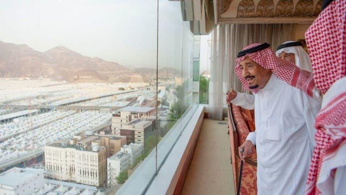Shah Salamn visit mina