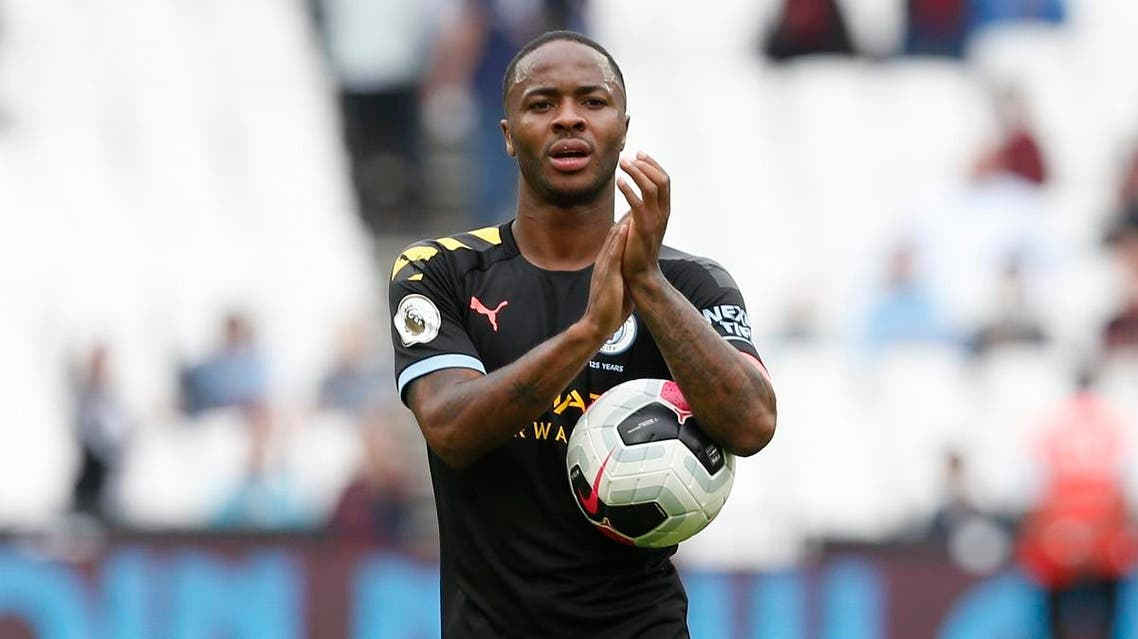 Manchester City's English midfielder Raheem Sterling. (AFP)