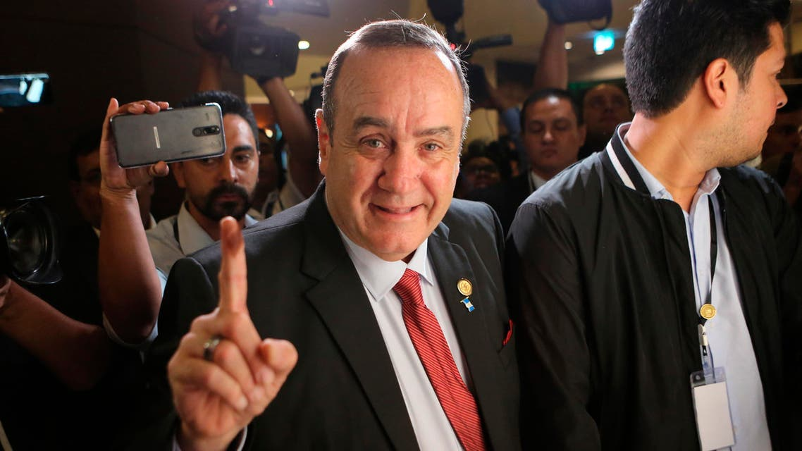Alejandro Giammattei Guatamala elections 2019 - AP