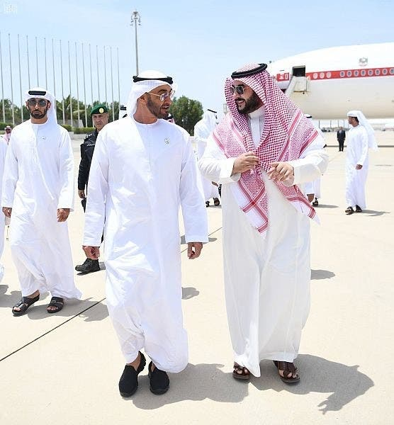 Mohammed bin Zayed and Khalid bin Salman. (Supplied)