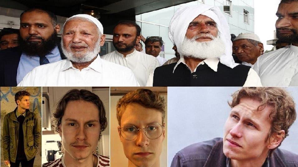 المصليان اللذان هاجما المهاجم، من اليمين محمدإقبال ومحمد رفيق، وصور لمانسوس من حسابه بفيسبوك