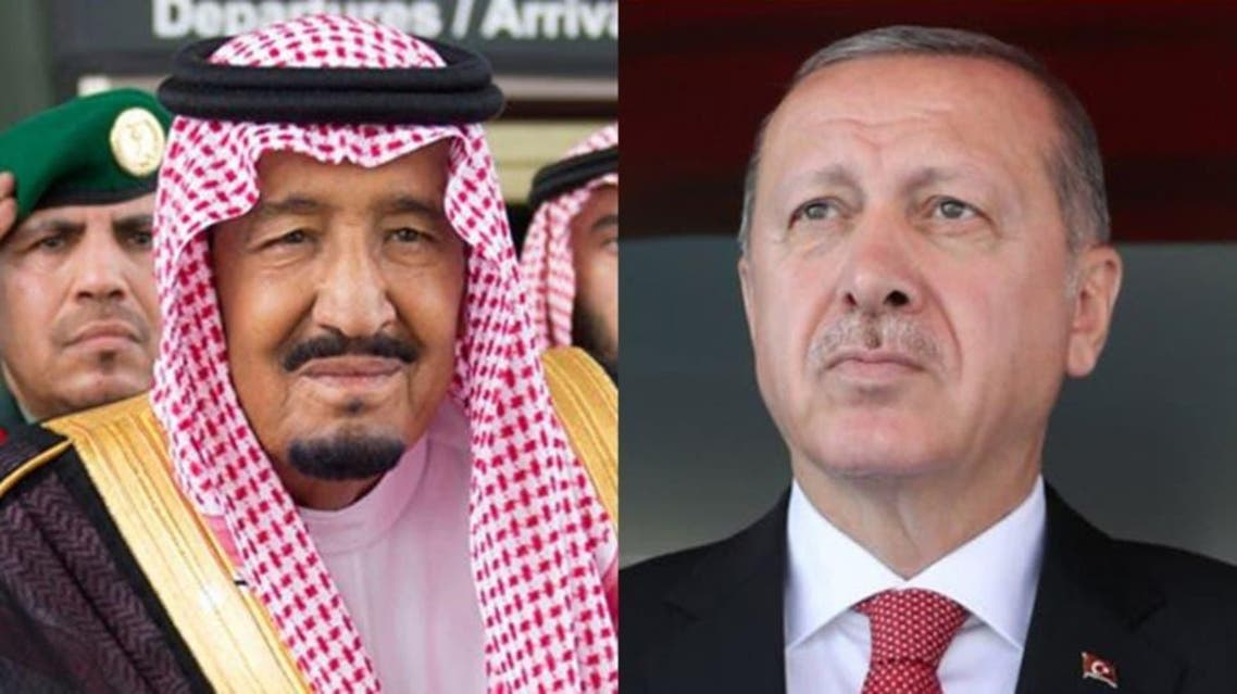 The Turkish president praised the Saudi King on the efforts exerted by the Kingdom to facilitate the Hajj pilgrimage and the successful management of navigating the movements of pilgrims in the holy sites. (Supplied)