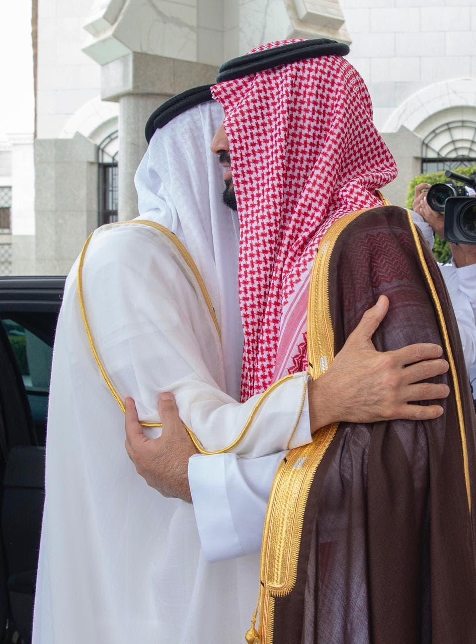 محمد بن سلمان يستقبل محمد بن زايد في منى