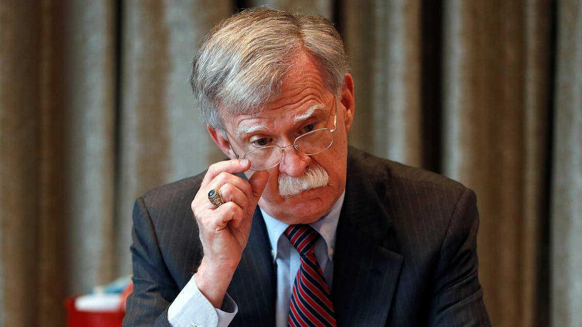 U.S. National Security Advisor, John Bolton, meets with journalists during a visit to London, Britain August 12, 2019. REUTERS/Peter Nicholls