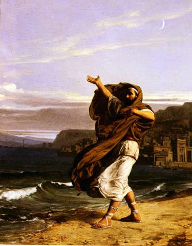 لوحة زيتية تجسد الخطيب بأثينا ديموسثينيس