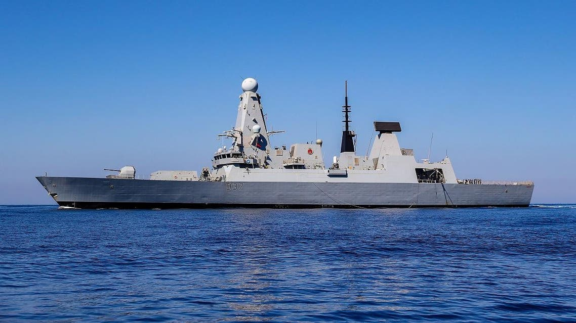 A file photo shows the British Type 45 Destroyer HMS Duncan at sea in the Mediterranean off Crete. (AFP)