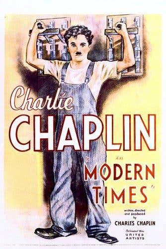 ملصق دعائي لفيلم الأزمنة الحديثة