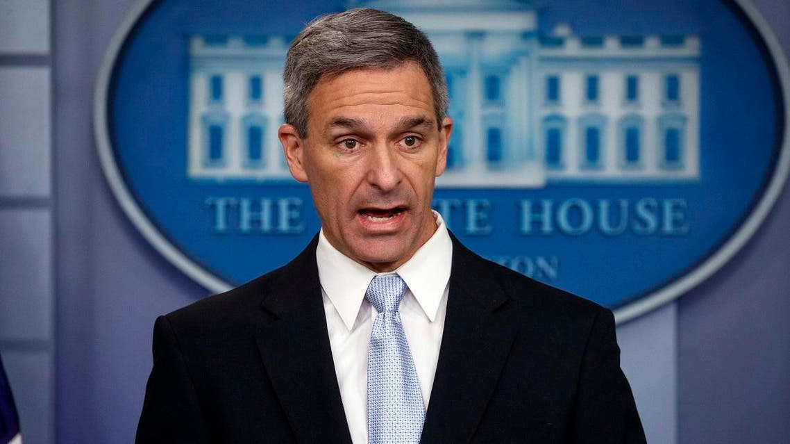 Acting Director of United States Citizenship and Immigration Services Ken Cuccinelli, speaks during a briefing at the White House, Monday, Aug. 12, 2019, in Washington. (AP)