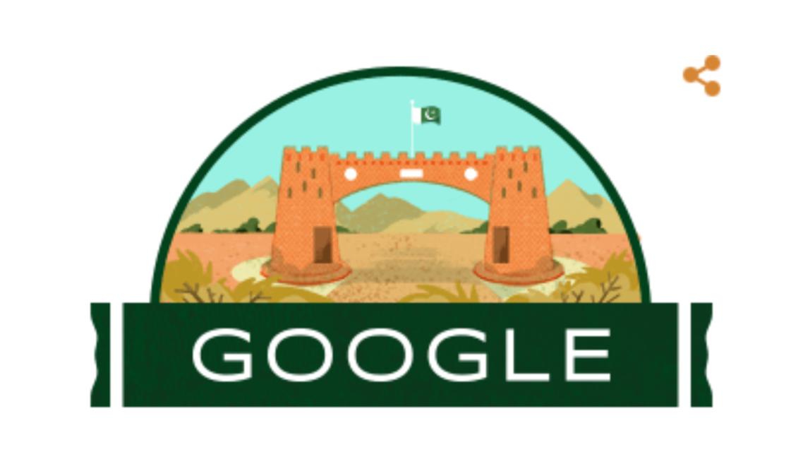 گوگل ڈوڈل برائے یوم آزادی پاکستان۔ [تصویر بشکریہ گوگل]