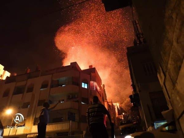 بالقرب من قصر بشار الأسد.. حريق ضخم مجهول الأسباب