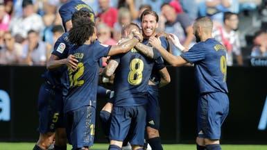 """ريال مدريد""""المنقوص"""" يتجاوز سلتا فيغو بثلاثية في أولى مبارياته الدورية"""