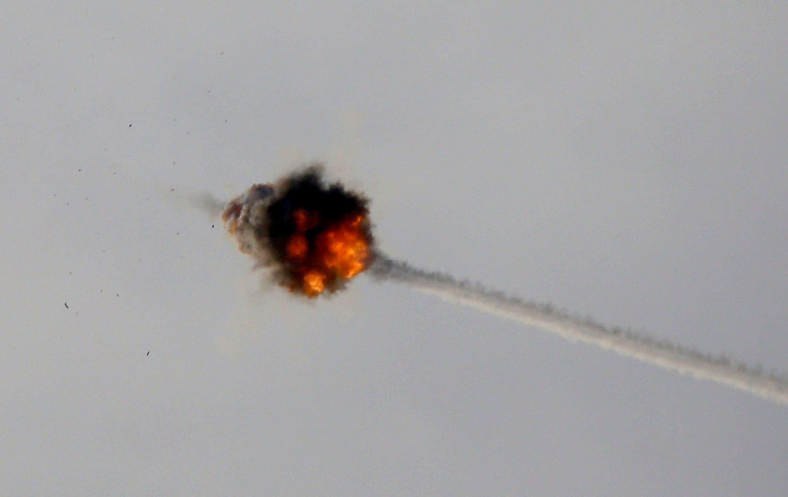 نظام القبة الحديدية يعترض صاروخاً أطلق من غزة (أرشيفية)
