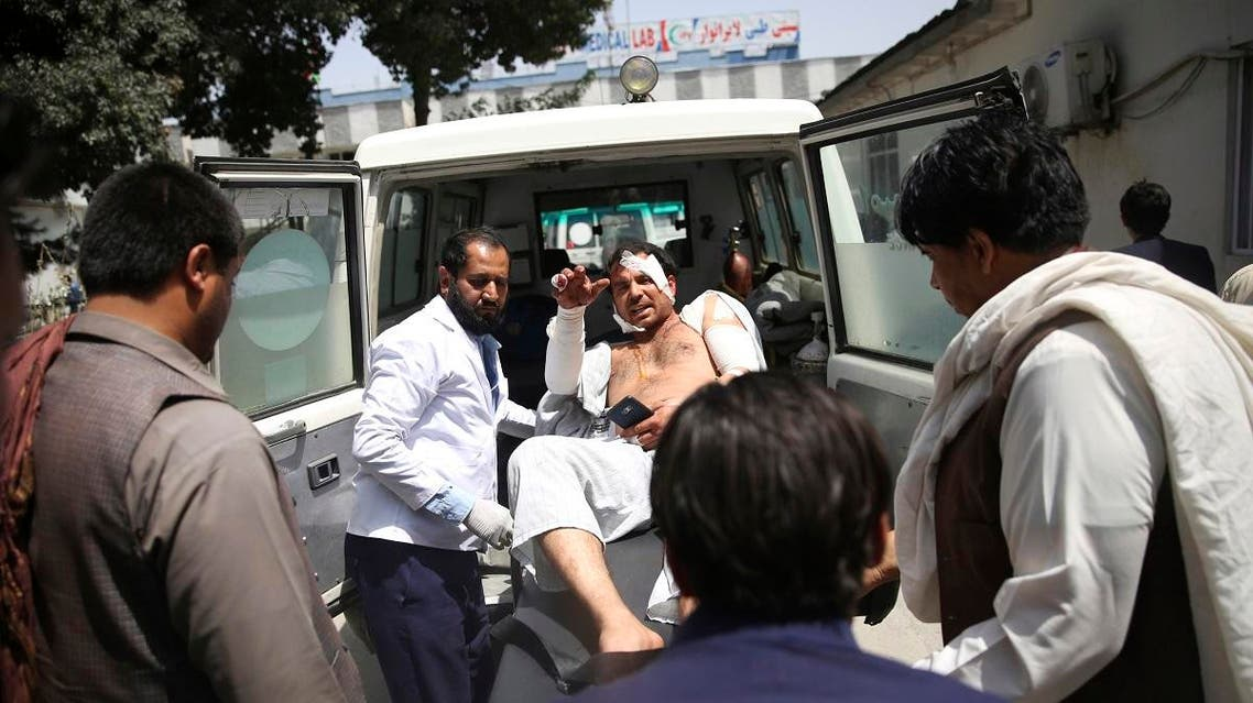 File photo of a wounded man is carried to an ambulance after an explosion in Kabul, Afghanistan, on Aug. 7, 2019.  (AP)