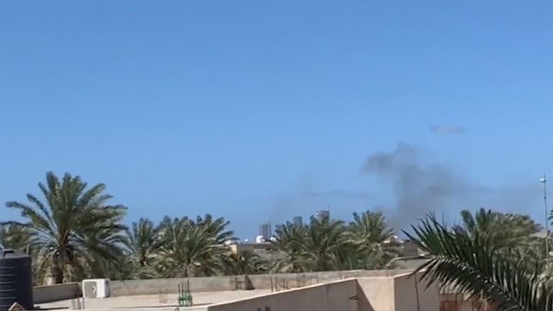المرصد الليبية تنشر صورا للمنشأة العسكرية التى استهدفها الجيش الليبي بمصراتة